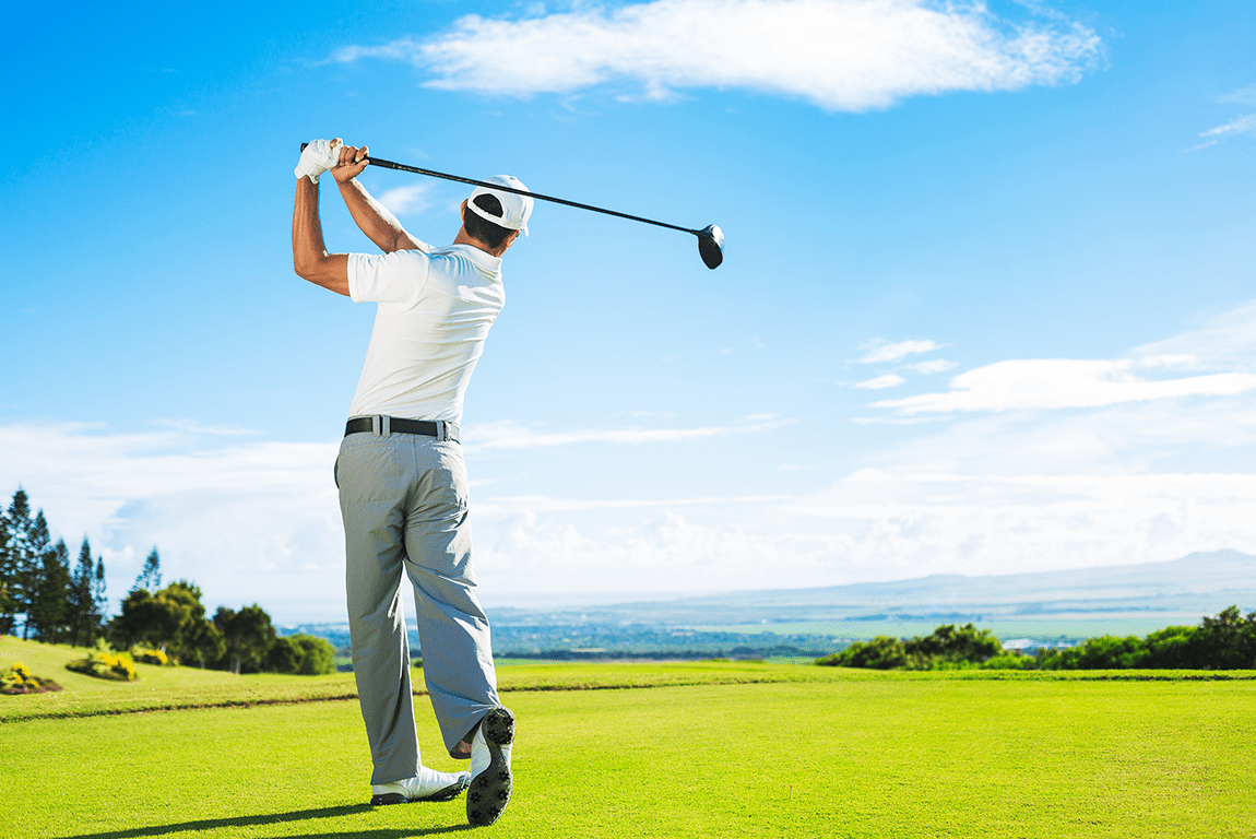 Golf course back pain is normal
